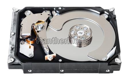 disassembled internal sata hard disk drive