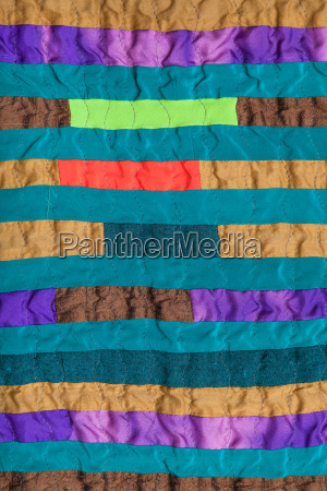 stitched patchwork scarf from many narrow