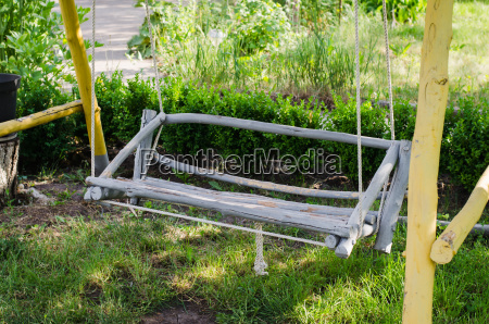 wooden swing hand made in the