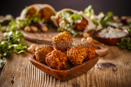 fresh chickpeas falafel