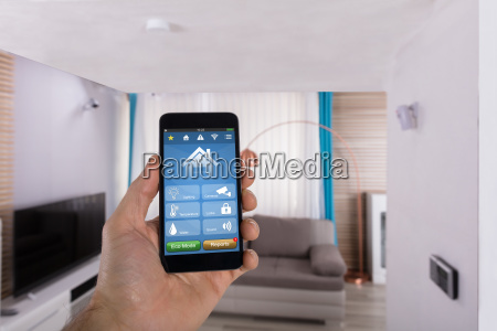 human hand using smart home system