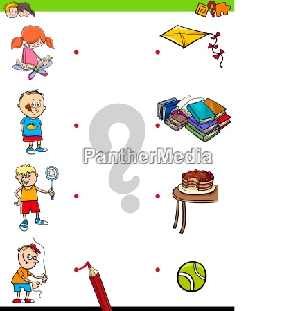 match children characters and activities game