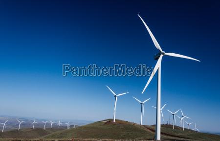 power turbine wind mills on rolling
