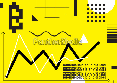 typography horizontal banner for blockchain