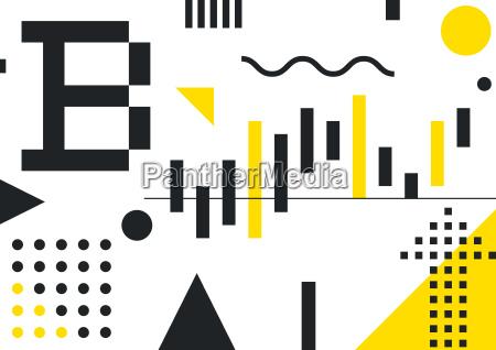 illustrative typography horizontal banner for blockchain