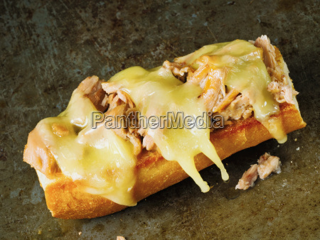 rustic american tuna melt sandwich