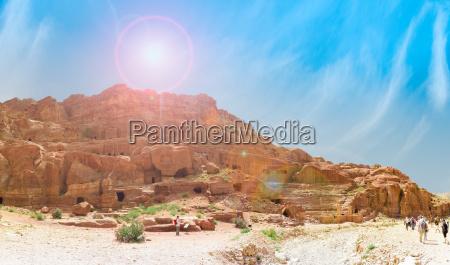 travelers in petra