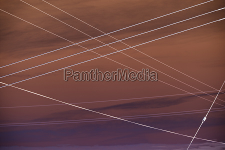 abstract of electrical utility wires extending