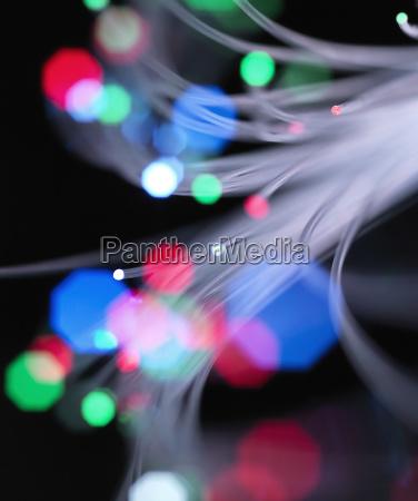 colorful fibre optic