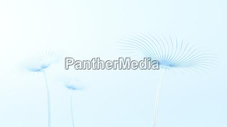 light blue glass flowers