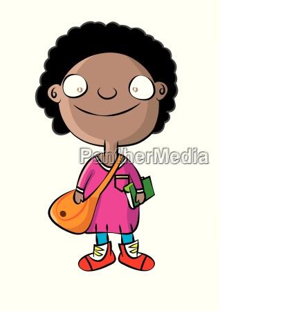 cute black school girl