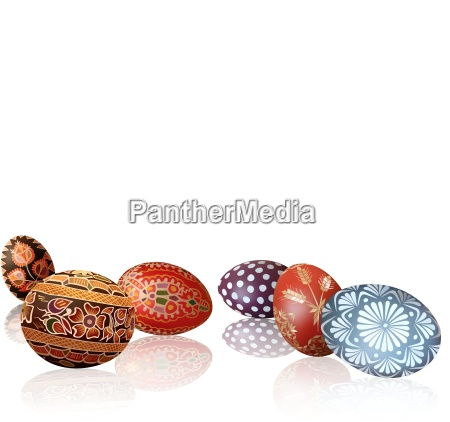 easter background with easter eggs and