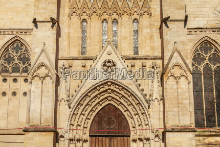 architectural detail of the cathedral saint
