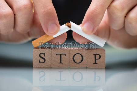 person quitting smoking