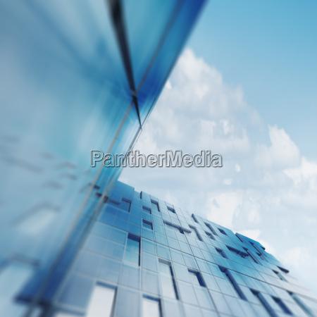 skyscraper abstract concept 3d rendering