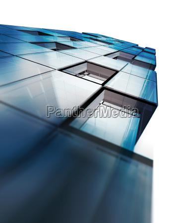 perspective office 3d rendering