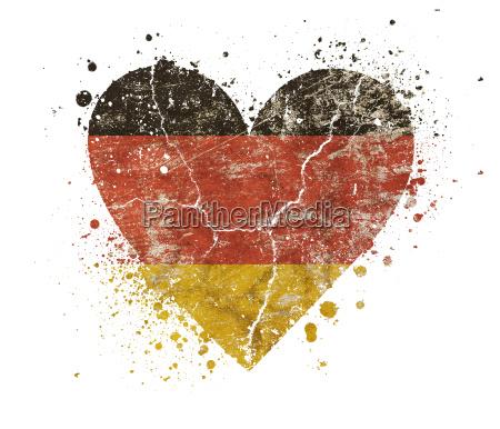 heart shaped grunge vintage faded german
