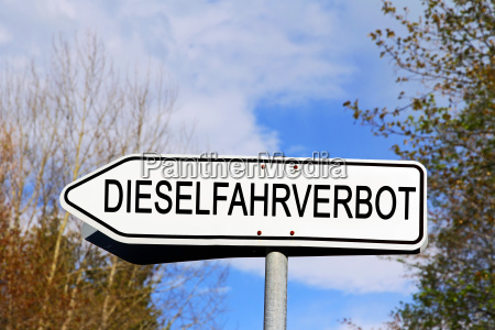 road sign diesel driving ban sign