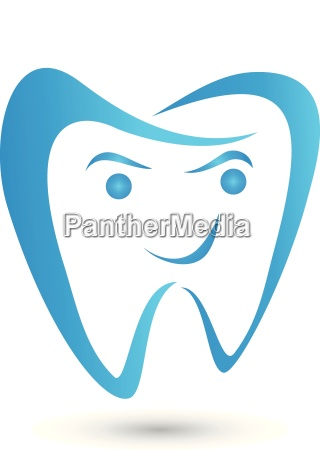 tooth smile dentist dentistry logo