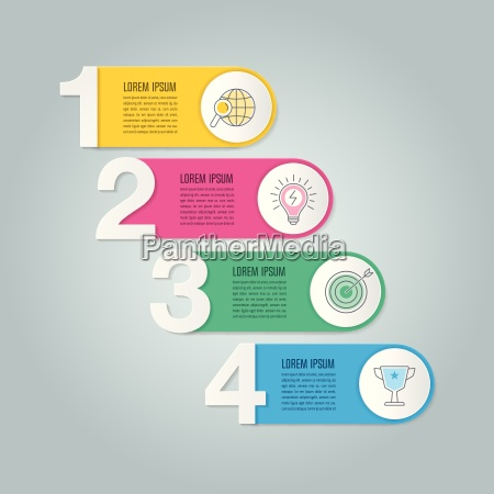 infographic design business concept with 4