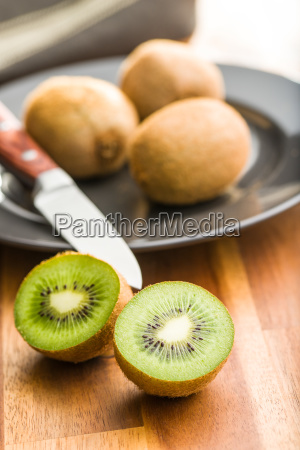 halved kiwi fruit