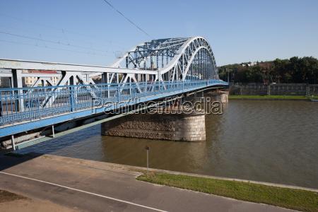 marshal jozef pilsudski bridge in krakow
