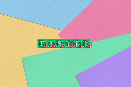 scrabble letters spelling pastel on colorful