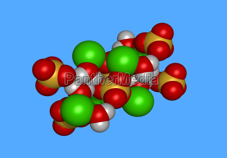 gypsum molecular model