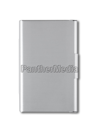 closed card holder isolated on white