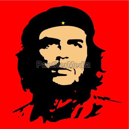 che guevara cuba revolution illustration hero