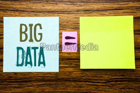 word writing big data business concept