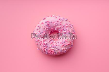pink sweet donut