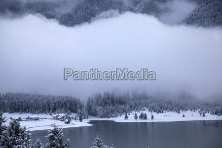 lake at winter