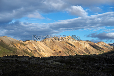 volcanic mountains of landmannalaugar in fjallabak