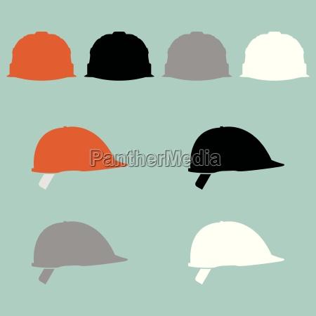 construction helmet different colour icon
