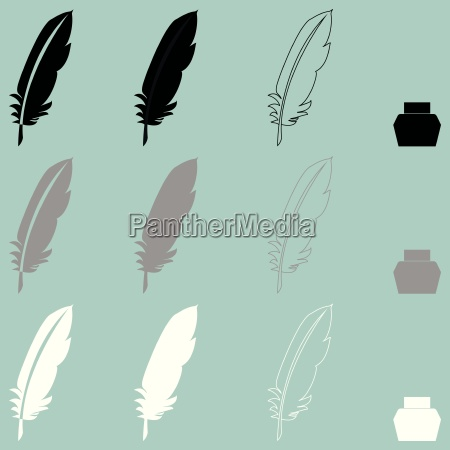 feather and inkwell different icon