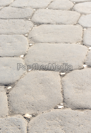 ancient pavement in pompeii italy