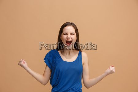 winning success woman happy ecstatic celebrating