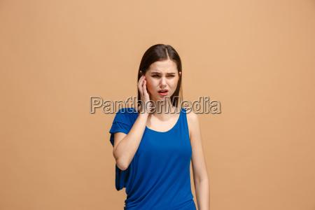 the ear ache the sad woman