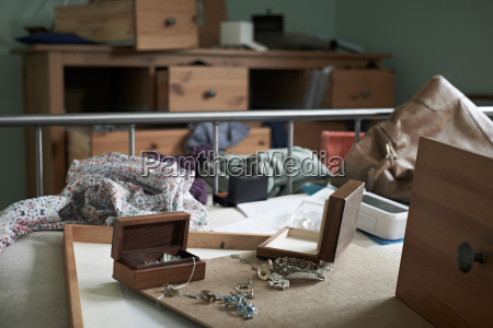 bedroom ransacked during burglary