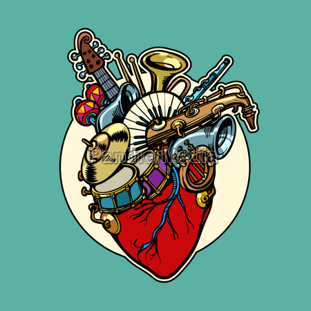 music education heart love instruments