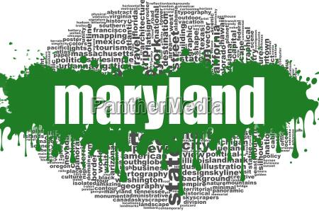 maryland word cloud design
