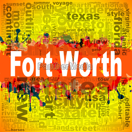 fort worth word cloud design
