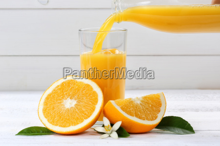 pour orange juice in pour orange