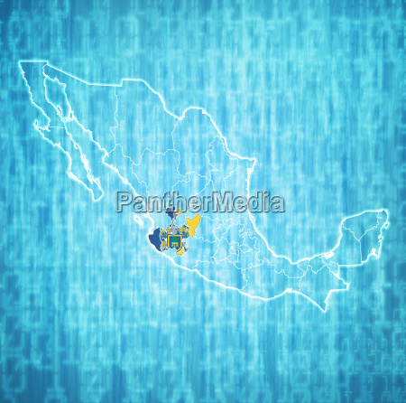 jalisco state on administration map of