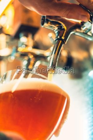 beer craft bar table steel taps