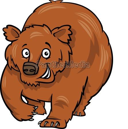 cartoon grizzly bear animal character