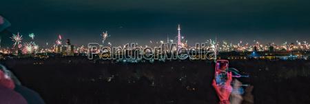 berlin panorama at night new years