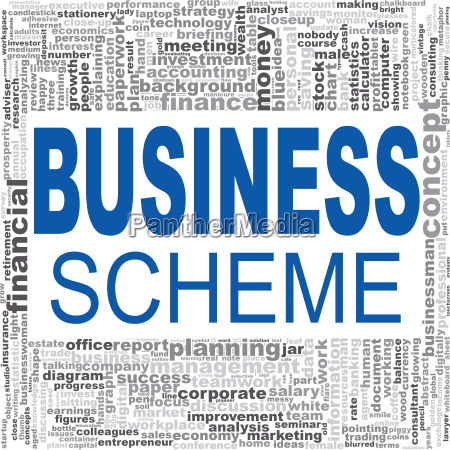 business scheme word cloud