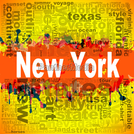 new york word cloud design